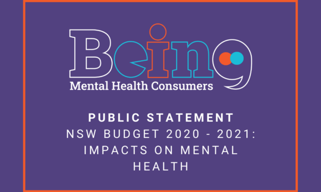 Public Statement: NSW Budget 2020-2021 – Impacts on Mental Health