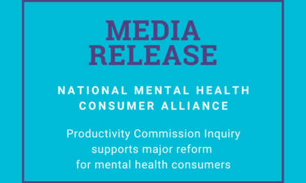 Productivity Commission Inquiry supports major reform for mental health consumers
